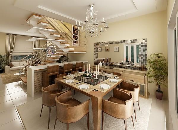 decoração salas de jantar